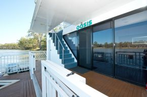 Rear deck on Oasis Houseboat - Moored at Customs House Houseboat Marina